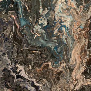 """Stone Cold"" Original pour painting on canvas"